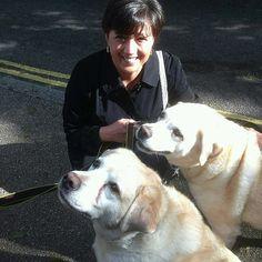 A fan with #georgemichael dogs Meg & Abby