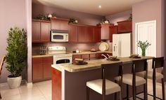 Chic kitchen with open layout in the Lancaster model!