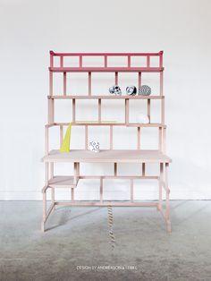 Babylon collapsable Tower Desk - Andréason & Leibel Design