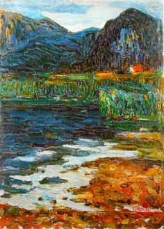 Expresionismo abstracto. The Kochelsee at Schlehdorf, 1902 by Kandinsky