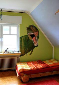 A Room For Dino Fans... Ein Zimmer Für Dinofans... In