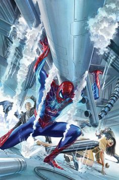 Amazing Spider-Man #16 cover by Alex Ross.
