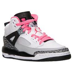 Girls' Grade School Jordan Spizike Basketball Shoes| Finish Line | White/Hyper Pink/Black/Cool Grey