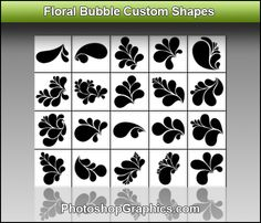 Floral Bubble Shapes