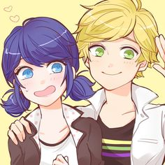 Marinette and Adrien from Miraculous Ladybug and Cat Noir Marinette Anime, Marinette E Adrien, Miraculous Ladybug Wallpaper, Miraculous Ladybug Fan Art, Meraculous Ladybug, Ladybug Comics, Ladybugs, Adrien Miraculous, Ladybug Und Cat Noir