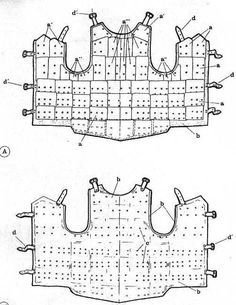 Diagram of a brigandine. One of the Visby types.
