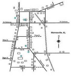 Map Of Maycomb To Kill A Mocking Bird