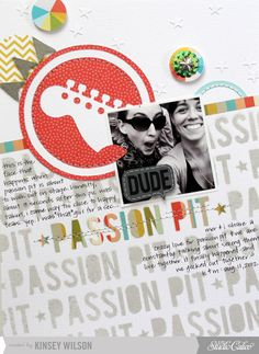 i love this layout by kinsey wilson, studio calico