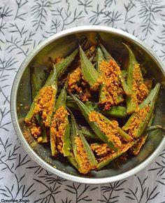 Stuffed okra recipe- How to make bharwan bhindi- Side dish for chapatis