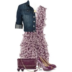Dressed Up Denim, created by stephiebees on Polyvore