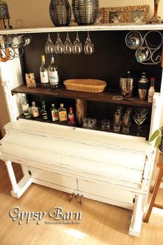 Re-purposed Piano !!....www.the vintageloftcompany.co.uk is on the hunt for one.....coming your way soon !!!