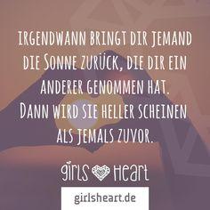 Mehr Sprüche auf: www.girlsheart.de #hoffnung #liebe #freundschaft…
