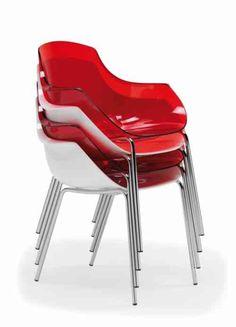 chaises empliables en plastique transparent