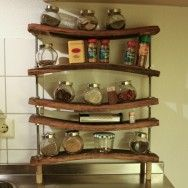 Shelving made from old barrels..cool :)