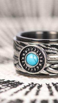 #black #silver #vintage #ring #combination #turquoise #zebra #knot #braid #rings #boho #jewelry Boho Festival, Class Ring, Knot Braid, Silver Rings, Turquoise, Boho Jewelry, Black Silver, Vintage, Accessories