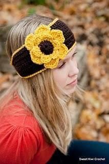 Crochet Flower Headwrap Pattern