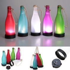 5 Pcs/sets Cork Wine Bottle LED Solar Powered Sense Light Outdoor Hanging Garden Lamp For Party Courtyard Patio Path Decoration #Affiliate