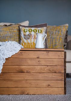 DIY Coffee Table from IKEA MALM bed slats and a wee bit of ingenuity