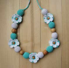 Nursing Breastfeeding Necklace Teething necklace by NittoMiton
