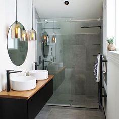 🌵🌿️Cinza, Preto, Madeira = Perfeito 🌵🌿 Via Pinterest ➡️Sigam @blogedgemendes nas Redes Sociais, todas o mesmo nome. Site🔝link na Bio . . . #love #decor #bath #decor #design #designinteriores #mutante #home #myhome #house #myhouse #greenery #arquitetura #architecturephotography #details #decoracao #detalhes #interior123 #minimalista #escandinavo #nordic #reforma #meuape #apto