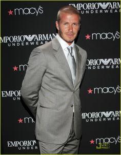 f7e15ecce40 David Beckham modelling an Emporio Armani suit Emporio Armani