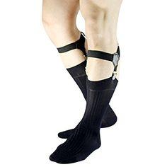 YiZYiF Men's Sock Garters Belt Suspender with Non-slip Double Clips Black,One Size: Set Include: 1 Pair Sock Gartersbr Condition: Brand Newbr Material: Nylon, Lycrabr Color: Multicolor(As picture shows)br Size: br Belt Width: 1 Belt Length: Sock Suspenders, Leather Suspenders, Non Slip Socks, Sheer Socks, Belt Holder, Shirt Stays, Black Socks, Dress Socks, Ties