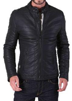Mens Original Biker Leather Motorcycle Jacket Lambskin Genuine Zipper Coat SZ40 #Handmade #Motorcycle