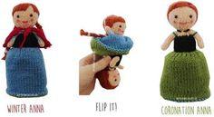 Anna Frozen Flip Doll - Knitted Toy Box