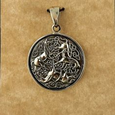 Sterling Silver Epona Horse w/ Celtic Knots by celtictreasures