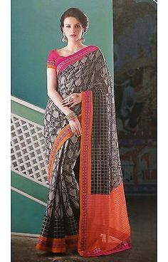 Elegant Indian Sari Black Indian Ethnic Latest Fashion SAREE EDH Wedding Wear | eBay