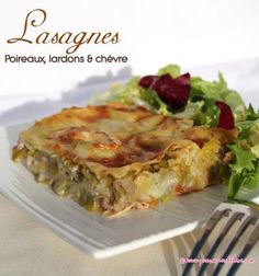 Lasagnes aux poireaux, lardons et chèvre Brunch Recipes, My Recipes, Healthy Dinner Recipes, Breakfast Recipes, Healthy Breakfast For Kids, Vegan Smoothies, Lunch Meal Prep, Batch Cooking, Meals