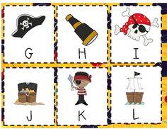 Shiver Me Letters Alphabet Cards - use for memory or matching upper and lowercase letters