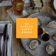 Oyster Happy Hour Deals with craft beers, wine, and more! #NYCBest #Oysters #HappyHour