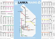 Sri Lanka train schedule with route