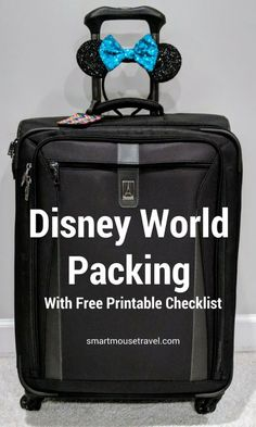 Packing for Disney World can be a bit overwhelming. Over years and many trips I have compiled my own Disney World Packing list which you can now use to make your packing easy! Disney World Packing, Disney World Vacation, Disney Cruise, Disney Vacations, Walt Disney World, Disney Worlds, Disney Travel, Cruise Vacation, Orlando Vacation