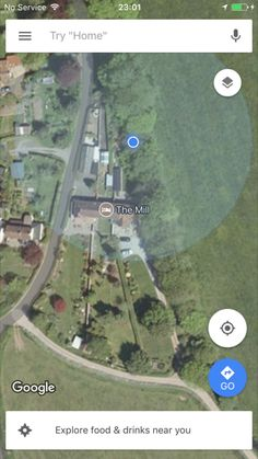 Google earth image of the garden (the one on the right). For some reason it says it's the mill??