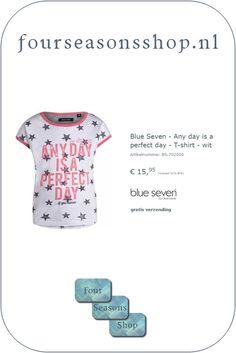 www.fourseasonsshop.nl Four Seasons, Words, T Shirt, Blue, Shopping, Supreme T Shirt, Tee Shirt, Seasons Of The Year, Tee