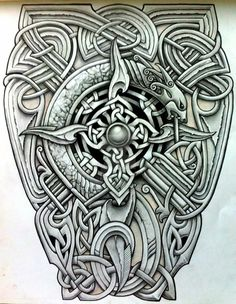 Celtic design celtic design Viking tattoo design, Viking celtic tattoo designs - Tattoos And Body Art Kunst Tattoos, Body Art Tattoos, Sleeve Tattoos, Wing Tattoos, Art Viking, Viking Symbols, Norse Tattoo, Celtic Tattoos, Celtic Patterns