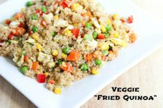 31 Days of Gluten Free Meals ~ Veggie Fried Quinoa | 5DollarDinners.com