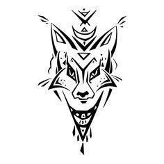 Tribal pattern Fox. Polynesian tattoo style. Vector illustration vector illustration Polynesian Tattoo Sleeve, Polynesian Tattoo Designs, Sleeve Tattoos, Illustration Vector, Illustrations, Half Sleeve Tattoo Template, Border Tattoo, Wrist Band Tattoo, Tribal Sleeve