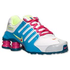 Nike Shox NZ Shoes Youth Girls Size 5 Womens sz 6.5 White Pink Blue 310480  101 dad2b77dd