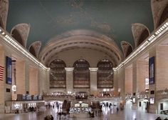 Grand Central in NYC (look at the ceiling!)