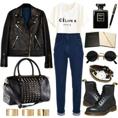 Grunge chic by hanaglatison on Polyvore