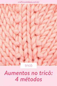 Knitting Videos, Easy Knitting, Knitting Stitches, Knitting Patterns Free, Knit Patterns, Knitting Increase, Tricot Baby, Best Knots, Yarn Bag