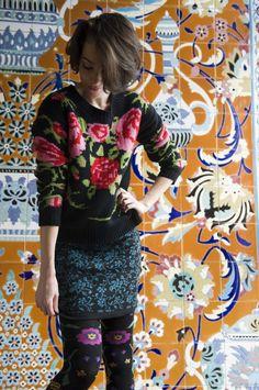Bonnie Doon rok Floral Jacquard. Prachtig rokje voor de winter bij Beenmodeonline.nl