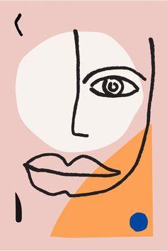 Matisse Inspired ART PRINT | Line Drawing modern Poster Minimalist Face artwork sketch Black and White Modern wall art 24 36 20x30 Poster #EtsyartPrints