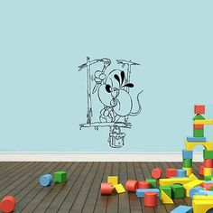Wall Mural Vinyl Sticker Decal mouse brush painting DA1262