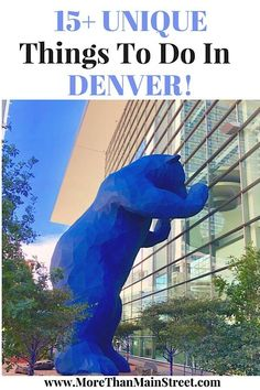Looking for fun things to do in Denver, Colorado? From Downtown to Red Rocks Amphitheater, 15+ unique things to do in Denver with kids or without! The perfect destination for a weekend getaway in spring, summer, or fall! #denver #colorado #usatravel #travelwithkids