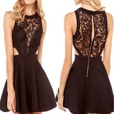 Black off shoulder lace unique style sexy formal homecoming prom dress –…