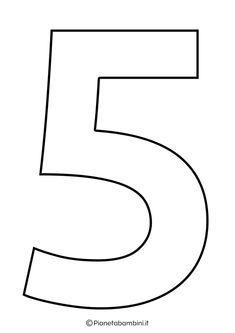 Numeri da Stampare, Colorare e Ritagliare per Bambini | PianetaBambini.it